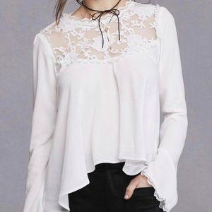 For Love & Lemons Ellery Top White Lace